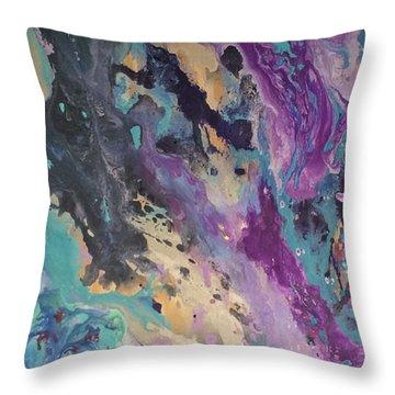 Ocean Floor Throw Pillow by Margalit Romano