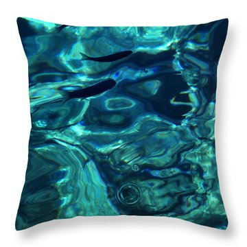 Throw Pillow featuring the photograph Ocean Water Santorini Greece  by Colette V Hera  Guggenheim
