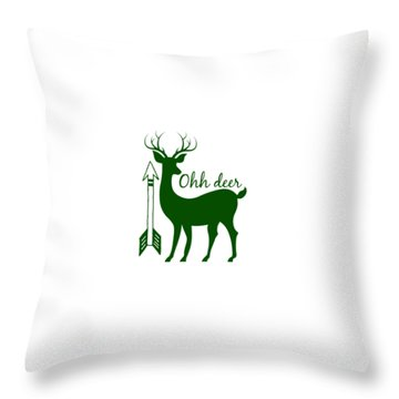 Ohh Deer Throw Pillow by Chastity Hoff