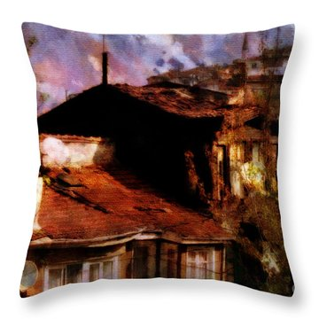 Throw Pillow featuring the photograph Old Istanbul by Dariusz Gudowicz