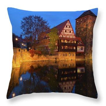 Nuremberg At Night Throw Pillow