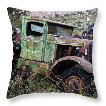 Old Truck Throw Pillow by Anthony Jones