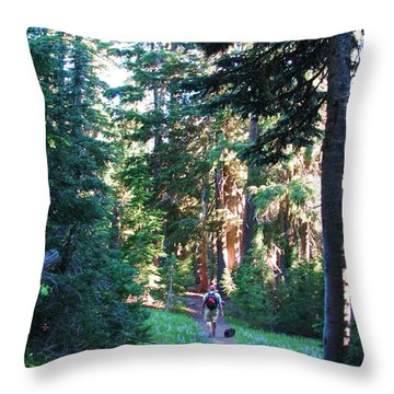 Throw Pillow featuring the photograph On A Hike by Michele Penner