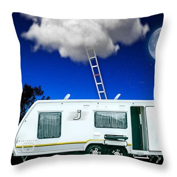 On Vacation Art Throw Pillow by Marvin Blaine