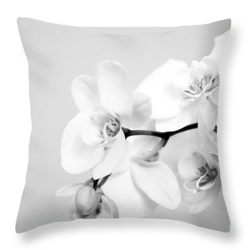 Orchid Throw Pillow by Amanda Barcon