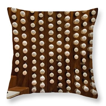 Organ Stops Throw Pillow