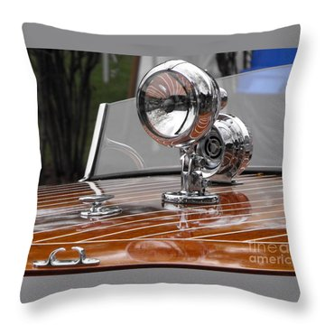 Outboard Runabout Throw Pillow