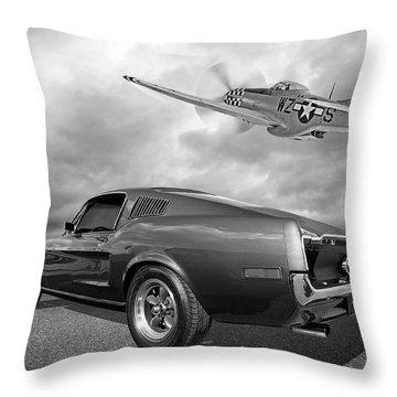 p51 With Bullitt Mustang Throw Pillow
