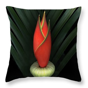 Palm Of Fire Throw Pillow by Christian Slanec
