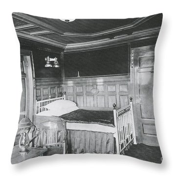 Parlour Suite Of Titanic Ship Throw Pillow by Photo Researchers
