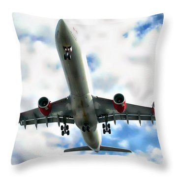 Passenger Plane Throw Pillow