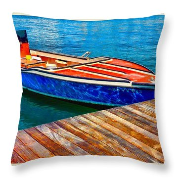 Patiently Waiting Throw Pillow by Pamela Blizzard