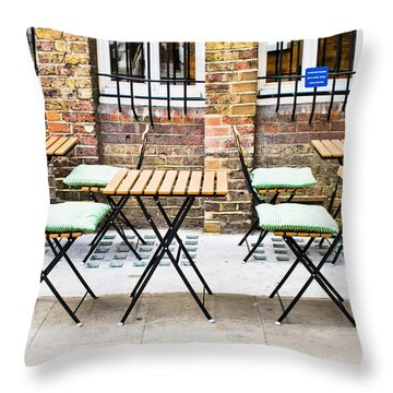 Pavement Cafe Throw Pillow