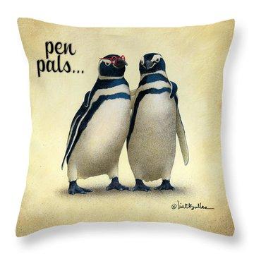 Pen Pals... Throw Pillow