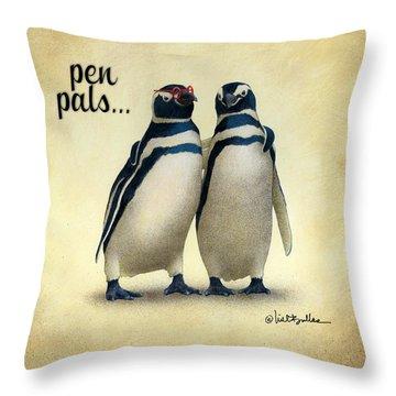 Pen Pals... Throw Pillow by Will Bullas