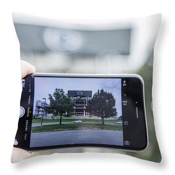 Penn State Beaver Stadium  Throw Pillow by John McGraw