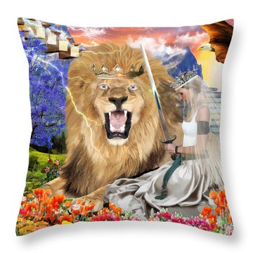 Perfect Peace Throw Pillow by Dolores Develde