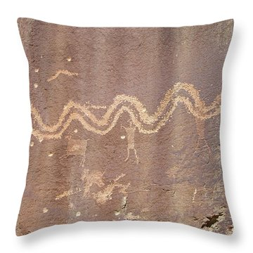 Petroglyph - Fremont Indian Throw Pillow