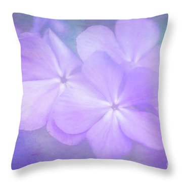 Phlox In The Evening Light Throw Pillow