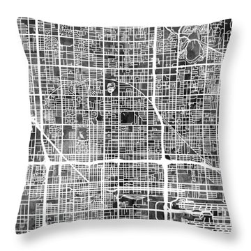 Phoenix Arizona City Map Throw Pillow