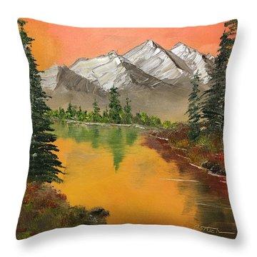 Pine Lake Throw Pillow