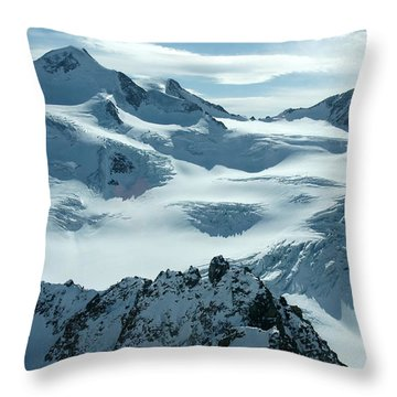 Pitztal Glacier Throw Pillow