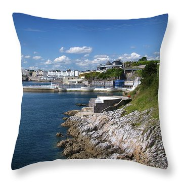 Plymouth Foreshore Throw Pillow by Chris Day