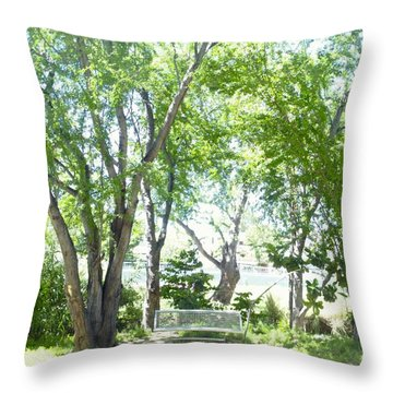 Ponce, Urban Ecological Park Throw Pillow
