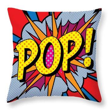 Pop Art - 4 Throw Pillow