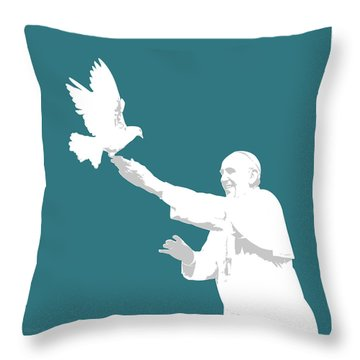 Pope Francis Throw Pillow by Greg Joens