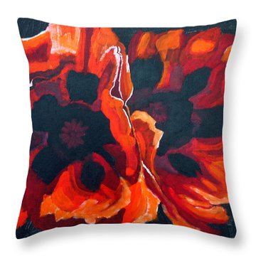 2 Poppies Throw Pillow