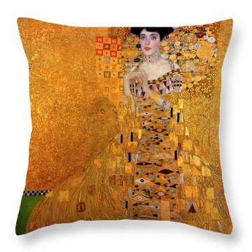 Portrait Of Adele Bloch-bauer Throw Pillow