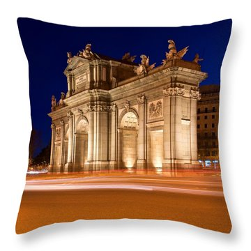 Puerta De Alcala Madrid Throw Pillow