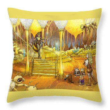 Queen Of The Hive Throw Pillow
