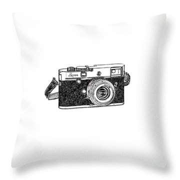 Rangefinder Camera Throw Pillow