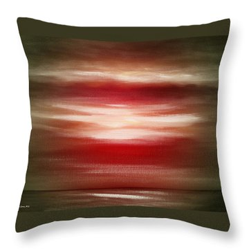 Red Abstract Sunset Throw Pillow