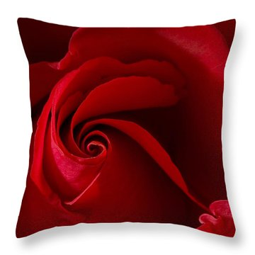 Red Rose Iv Throw Pillow