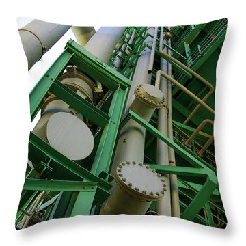Refinery Detail Throw Pillow by Carlos Caetano