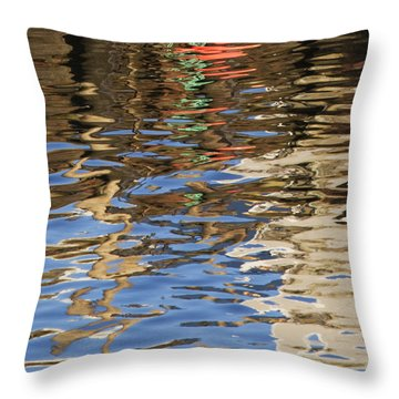 Throw Pillow featuring the photograph Reflections by Charles Harden