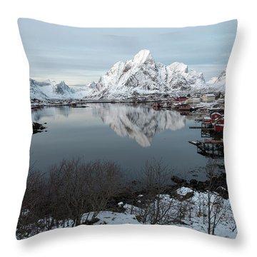 Throw Pillow featuring the photograph Reine, Lofoten 4 by Dubi Roman