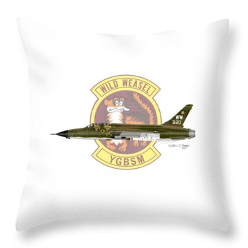Republic F-105g Thunderchief 561tfs Throw Pillow