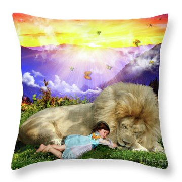Rest  Throw Pillow by Dolores Develde