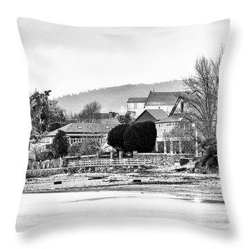 Throw Pillow featuring the photograph Ribera Maninos Fene Galicia Spain by Pablo Avanzini