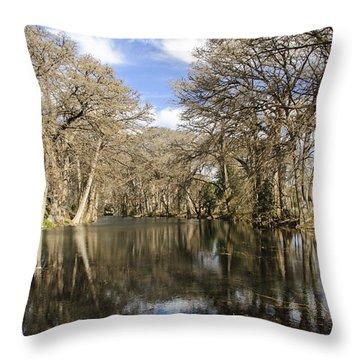 Rio Frio In Winter Throw Pillow