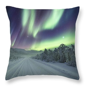 Road View Throw Pillow