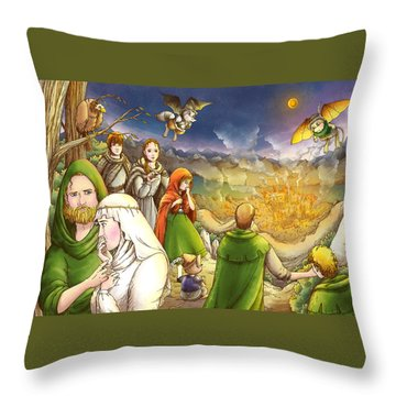 Robin Hood And Matilda Throw Pillow