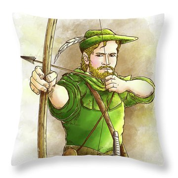 Robin Hood The Legend Throw Pillow