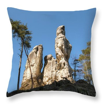 Throw Pillow featuring the photograph Rock Formations In The Bohemian Paradise Geopark by Michal Boubin