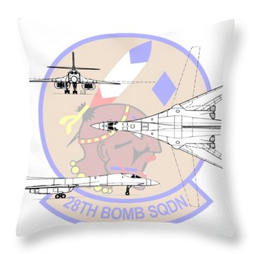 Throw Pillow featuring the digital art Rockwell B-1b Lancer by Arthur Eggers