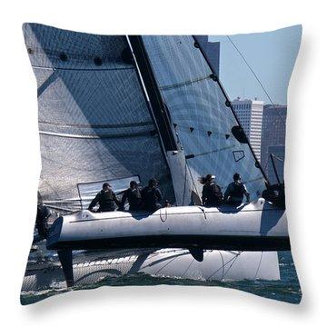 Rolex Big Boat Series Start Throw Pillow